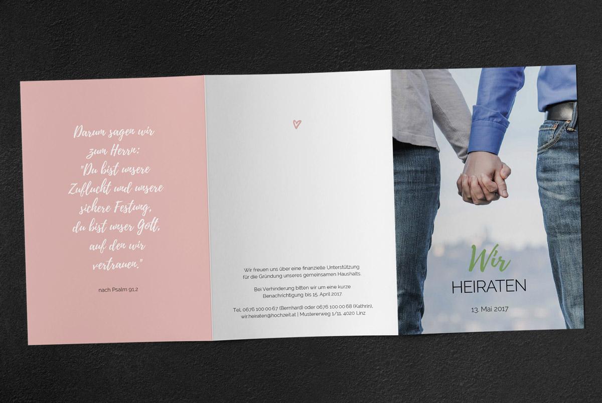 Design Gestaltung Print Hochzeitseinladung