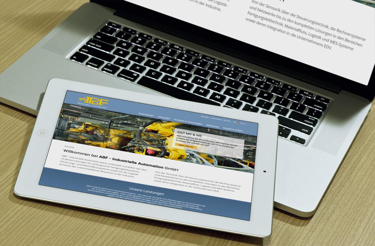 Mehrsprachige responsive Drupal Website Umsetzung für ABF - Industrielle Automation GmbH