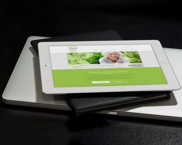Gesundheitshaus Hössinger Logo-Redesign, Webdesign und Umsetzung Wordpress Website, Produktbeilage