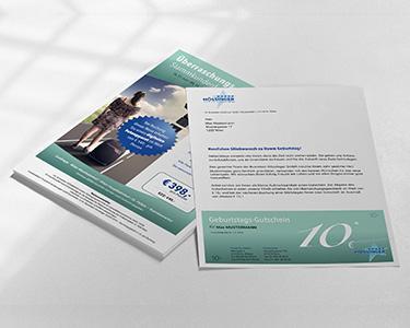 Design-Konzept, Schriftkonzept und Formensprache Briefsorten, Inserat, Social Media Facebook Busreisen Hössinger GmbH